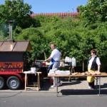 Holzofen von Zobel's Bäckerei beim Maifest