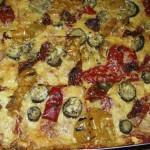 vegetarische Grillgemüsepizza