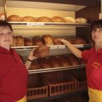 Bäckerauto Verkäuferinnen